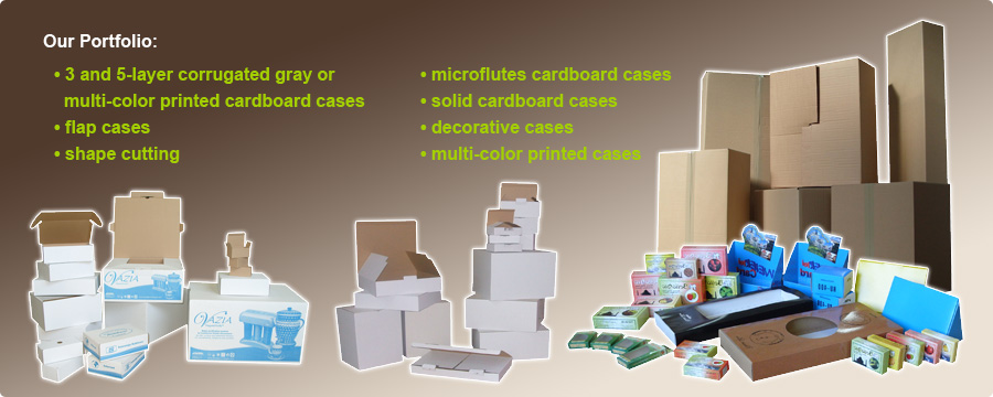 Production of corrugated and solid cardboard
